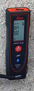 mit dem Disto D110 Entfernungen messen